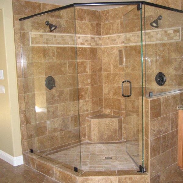 Oil rubbed bronze bathtub shower doors