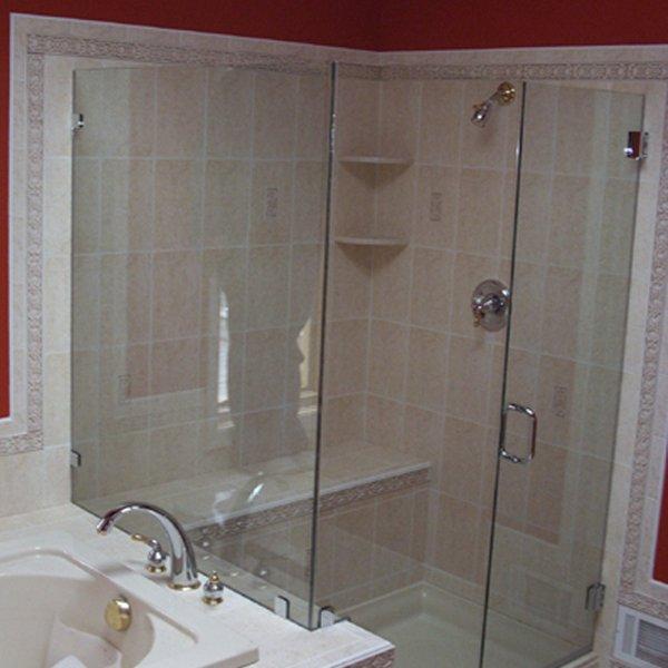Puertas de bano en cristal templado puertas de aluminio - Puertas cristal bano ...